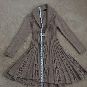 Sweaters - Long Flared cardigan
